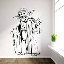 free shipping yoda star wars wall art sticker decal diy home desc