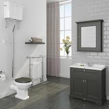 Large Bathroom Vanity Units with Downton Abbey Traditional Vanity Unit 800mm Wide Charcoal