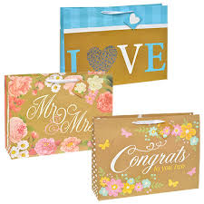 bulk gift bags bulk voila large wedding phrase gift bags with ribbon