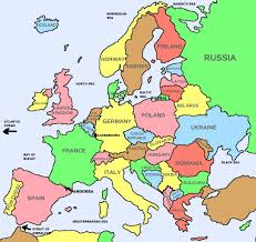 World Maps With Countries by Basic Countries Only Map Of Europe Going Places Pinterest