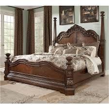 b705 72 ashley furniture ledelle brown bedroom king poster bed