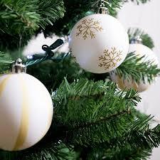 catalogo large white shatterproof ornaments