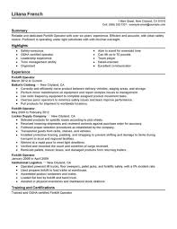 Sample Forklift Resume Perfect Sample Of Forklift Operator Resume Featuring Experience