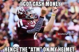Johnny Football Meme - johnny manziel money meme google search sports humor pinterest