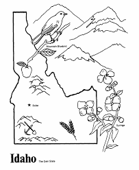 united states symbols coloring pages idaho state outline coloring page cc cycle 3 week 10 pinterest