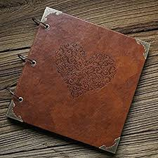leather scrapbook heart shaped leather cover scrapbook amare wedding