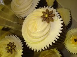 autumnal wedding cupcakes sunflower cupcakes sunflowers and tea