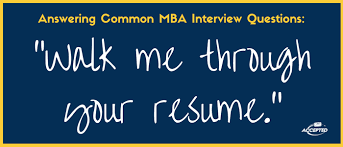 how to approach tell me about yourself at an mba