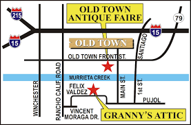 Old Town San Diego Map by Granny U0027s Attic Southern California U0027s Largest Antique Mall