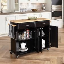 kitchen island cart walmart home styles dolly black island cart walmart