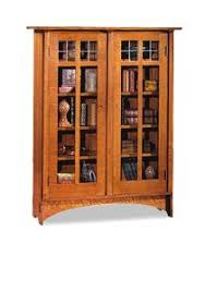 fancy mission style bookcase with glass doors m74 on home design