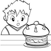 birthday cake 10 coloring pages hellokids
