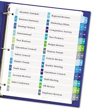 ready index customizable table of contents double column dividers