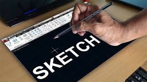 autocad sketch command autocad free hand sketching youtube