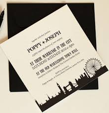 skyline wedding invitations paper