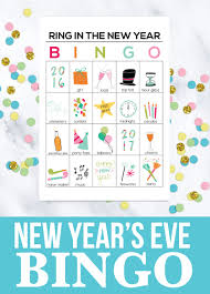 New Years Eve Traditions Printable New Year U0027s Eve Bingo Sheets