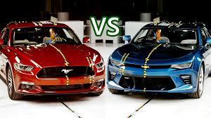 ford mustang chevy camaro 2017 ford mustang vs chevy camaro crash tests