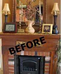 bargain decorating with laurie fireplace painted