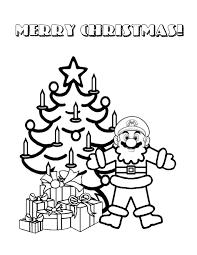christmas santa mario coloring u0026 coloring pages