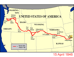 map of oregon country 1846 oregon trail the walk to westward expansion