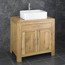 Oak Alta Two Door Cabinet With Basin Choice And Tap - Bathroom basin and cabinet
