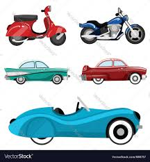 classic cars clip art classic cars and motorcycles royalty free vector image