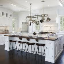 elegant kitchen design ideas with black 4 bar seating white
