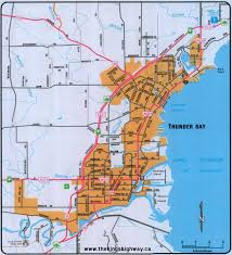 Map Of Ontario Ontario Highway 11b Thunder Bay Route Map The King U0027s Highways