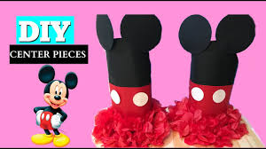 Mickey Mouse Center Pieces Diy Mickey Mouse Centerpieces Birthday Party Decorations Youtube