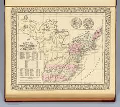 13 Colonies Map Blank by 13 Colonies 1776 David Rumsey Historical Map Collection