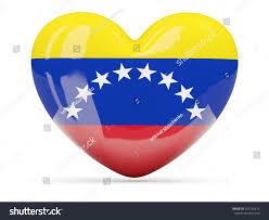 Venezuela Flag Colors Heart Shaped Icon Flag Venezuela Isolated Stock Illustration