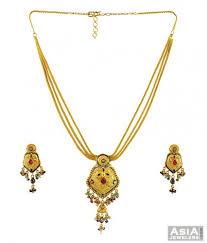 gold stone necklace sets images 22k gold stones necklace set ajns56462 22k gold hand crafted jpg