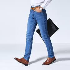 Comfortable Mens Jeans Odinokov Brand 2017 New Summer New Stretch Cotton Breathable And