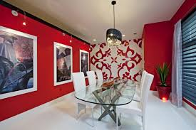 red dining room wall decor gold ceiling walls and in inspiration