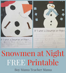 snowman writing paper printable teacher mama snowmen at night free printable after school linky boy mama teacher mama snowmen at night free printable featured