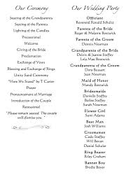 traditional wedding program wording scottie s wedding program wording wedding expo photography