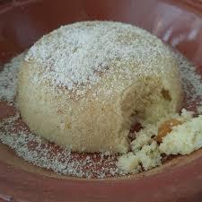 cuisine de base dessert à base de semoule raisins sec et fleur d oranger ร ปถ าย