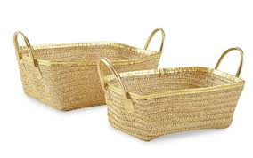 Baby Laundry Hamper by Levtex Baby Charlotte 2 Piece Gold Basket Set Babies