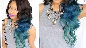 dye bottom hair tips still in style how to mermaid hair color diy youtube