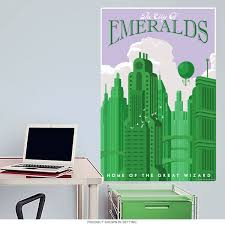 Emerald Green Home Decor by Emerald City Wizard Of Oz Wall Decal Home Theater Decor
