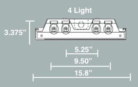 4 Fluorescent Light Fixtures Wraparound 4 L Fluorescent Light Fixtures