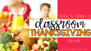 classroom thanksgiving feast in special ed mrs d s corner