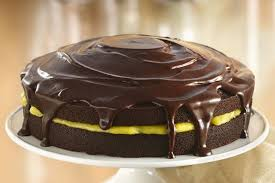 chocolate cake with orange filling and chocolate glaze recipe on