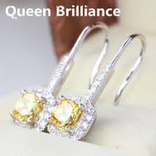 cheap diamond earrings discount simulated yellow diamond earrings 2017 simulated yellow