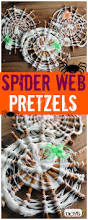 spider web pretzels easy halloween treat for kids easy