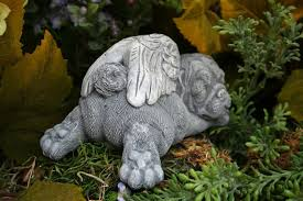 pug statue pet memorial garden sculpture