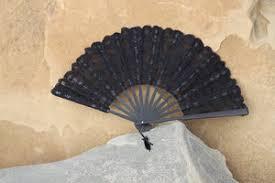 black lace fan battenberg lace fan parasols in paradise