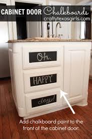 Chalkboard Ideas For Kitchen Crafty Texas Girls Crafty How To Cabinet Door Chalkboards Two Ways