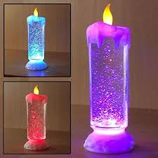 home decoration for diwali funrobbers colour changing led light glitter water candle candle