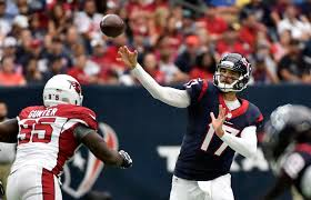 Houston Texans Flags Brock Osweiler Solid In Texans U0027 34 24 Victory Over Cardinals